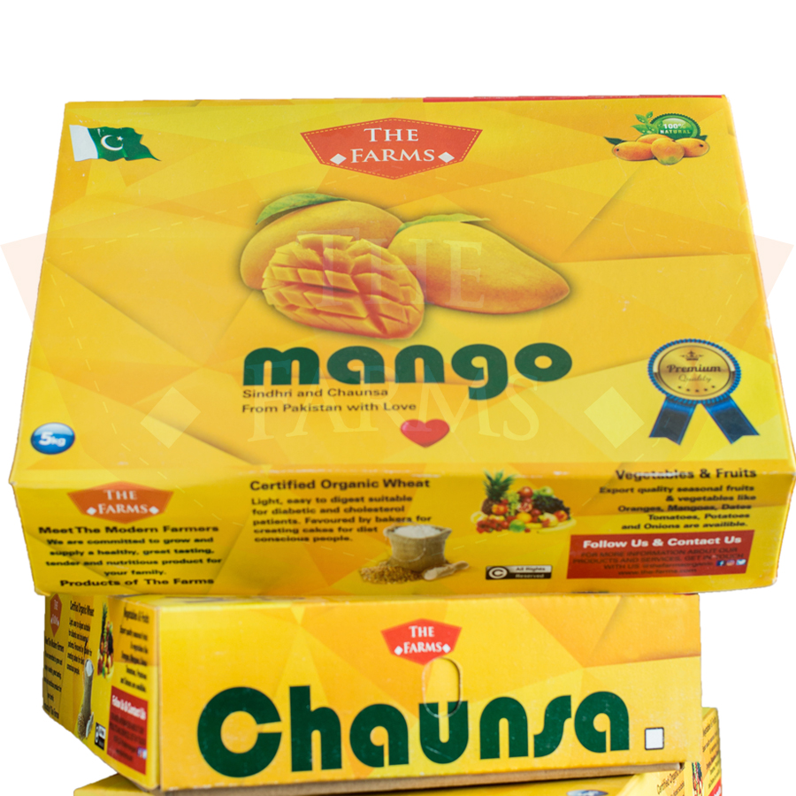 Premium quality fresh & juicy Chaunsa mango fruit 5KG box from Multan  Pakistan